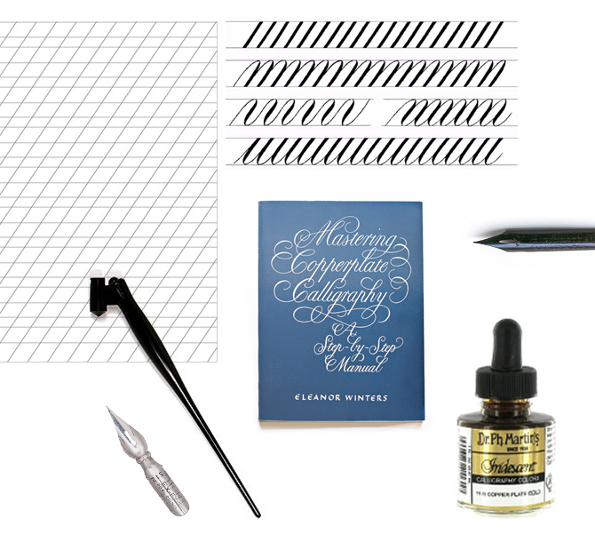 tools for calligraphy | via ForeverHeyday.com