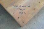 Albert Ross' pallet signed by Dad | forever heyday.com